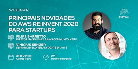 [Webinar] Principais novidades do AWS re:Invent 2020 para Startups ingressos