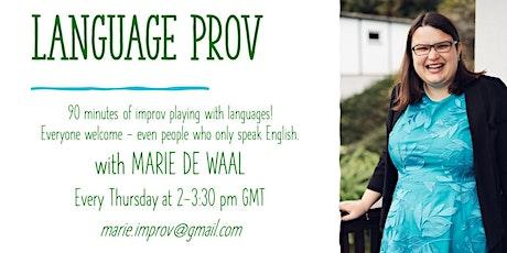 Language Prov tickets