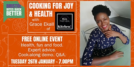Cooking for Joy & Health - Free event with cook-along and Q&A tickets