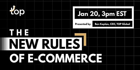 Toronto Webinar-The New Rules of E-Commerce tickets