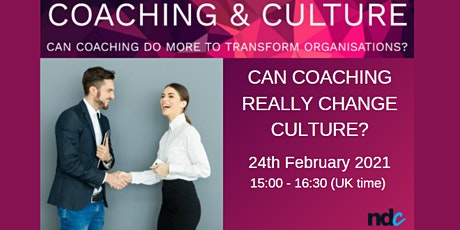 Can coaching really change culture? tickets