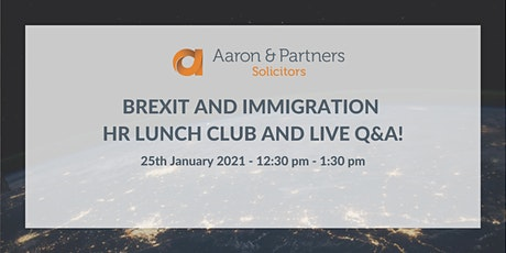 Brexit and Immigration - Online HR Lunch Club tickets