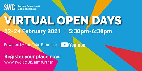 FE Virtual Open Day - Built Environment, Creative and Life Sciences tickets