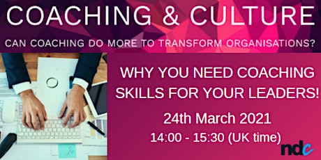 Why you really need coaching skills for your leaders! tickets