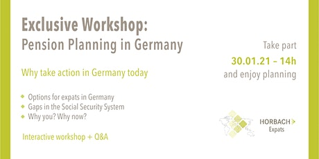 Workshop: Pension Planning in Germany 101 tickets