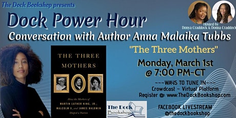 """The Three Mothers..."" A Conversation with Author Anna Malaika Tubbs tickets"