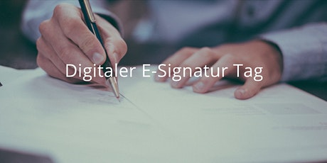 Digitaler E-Signatur Tag - 14. April 2021 Tickets