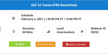 IAS 12 Taxes-IFRS Essentials tickets