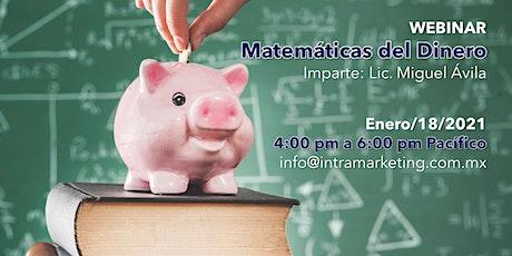 WEBINAR: Matemáticas del Dinero entradas