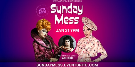 Sunday Mess - Digital Comedy Drag Show tickets