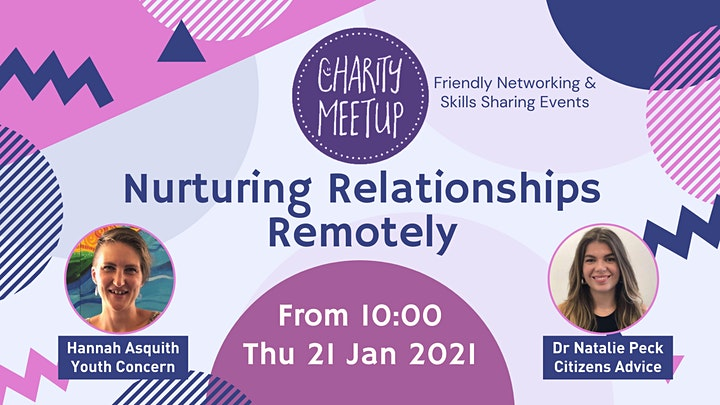 Charity Meetup - Aylesbury - Nurturing Relationships Remotely image