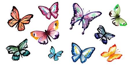 Watercolour Butterflies  (Online class) tickets
