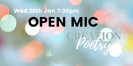 CREATION:Poetry Online Poetry Open Mic - January tickets