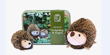 MAKE A 'SEW ME UP' HEDGEHOG & HOGLET WITH APPLES TO PEARS - FREE tickets