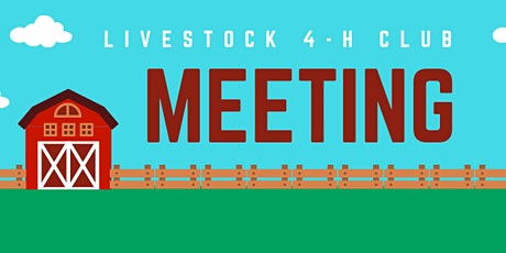 02/01/21 - Livestock 4-H Club - February Meeting tickets