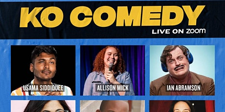 KO Comedy Live on Zoom: Sunday, January 17th, 2021 tickets