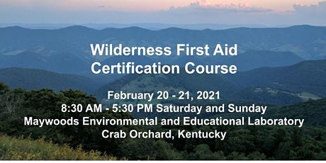Wilderness First Aid Certification Course tickets