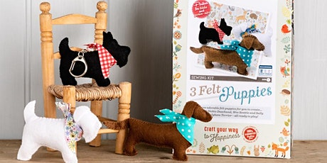 SEW FELT PUPPIES WITH THE CRAFTY KIT COMPANY - FREE tickets