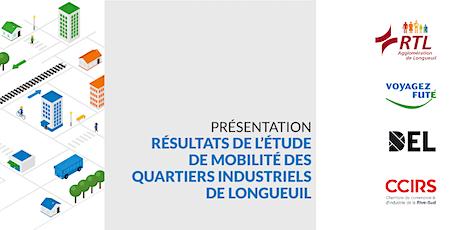 Présentation de l'étude de mobilité des quartiers industriels de Longueuil billets