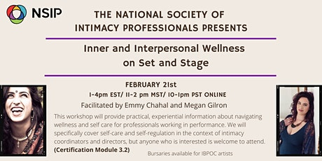 Inner and Interpersonal Wellness on Set and Stage tickets