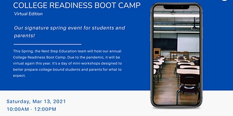 Virtual Spring 2021 College Readiness Boot Camp tickets