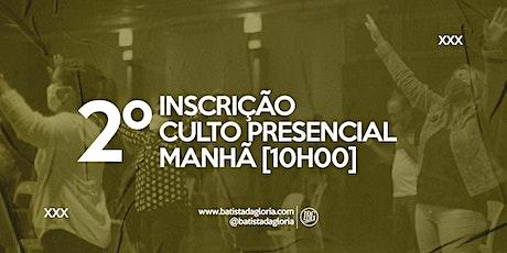 2a. CELEBRAÇÃO MANHÃ - 31/01 ingressos