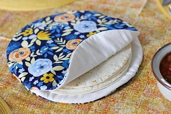 Beginner Sewing: Reusable Tortilla Warmer tickets