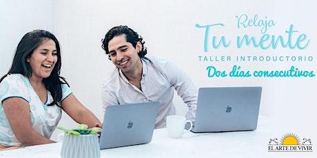 """Taller gratuito """"Relajá Tu Mente"""" boletos"""
