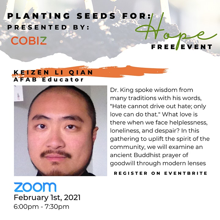 Planting Seeds for Hope (Three  Part Zoom Series) image