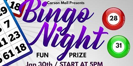 Carson Mall BINGO tickets