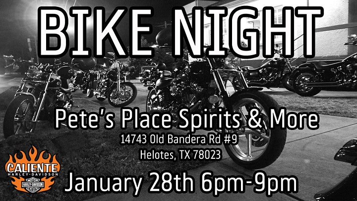 Bike Night at Pete's Place image