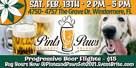 Pints and Paws at The Grove Orlando - February 2021 tickets