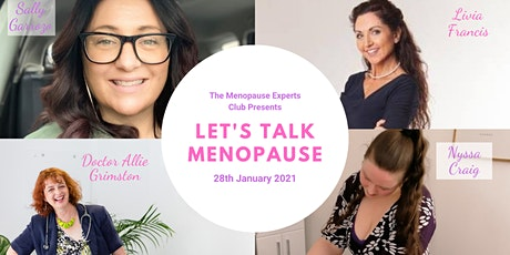 The Menopause Experts Club presents - Let's Talk Menopause - January 2021 tickets