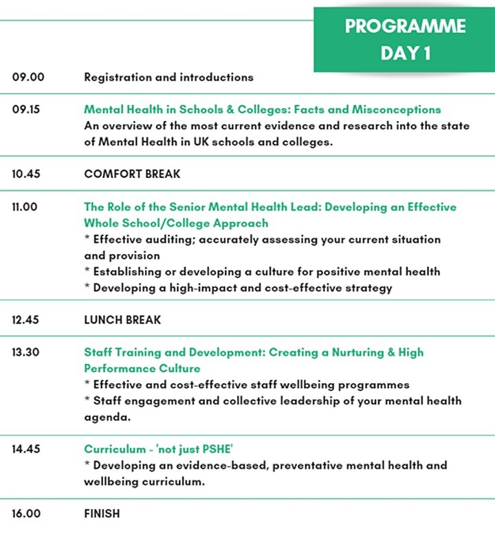Designated Senior Mental Health Lead Training & Certificate: London image