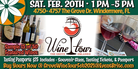 The Wine Tour at The Grove Orlando tickets