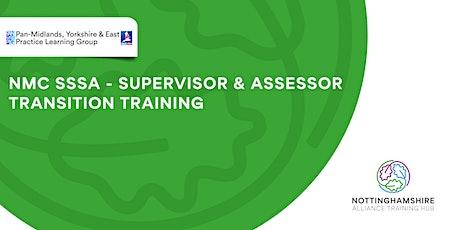 NMC SSSA- Supervisor and Assessor Transition Training tickets