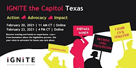 IGNITE the Capitol: Texas (Virtual Legislative Meetings) tickets