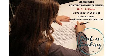 Ferienkurs Marburger Konzentrationstraining  für 5. - 7. Klasse mit Daniela Tickets