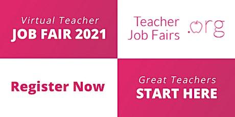 National Virtual Teacher Job Fair April 8, 2021 Hundreds of Teacher Jobs tickets