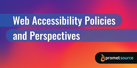 Web Accessibility Policies and Perspectives (1 Day) tickets