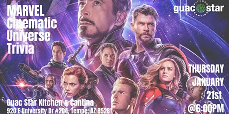 Marvel Cinematic Universe Trivia at Guac Star Kitchen and Cantina tickets