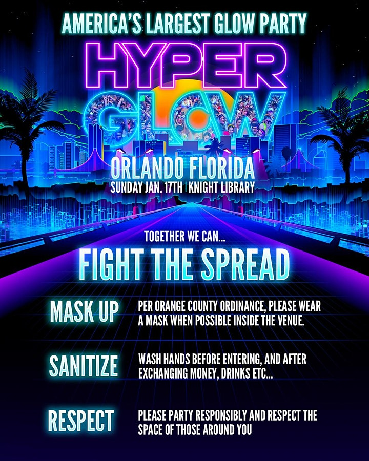 "Hyperglow Orlando, FL! ""America's Largest Glow Party"" image"