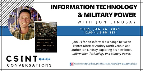 CSINT Conversations: Information, Technology & Military Power w Jon Lindsay tickets