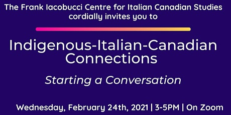Indigenous-Italian-Canadian Connections: Starting a Conversation tickets