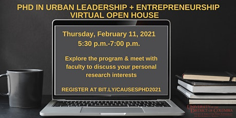 UDC Ph.D. in Urban Leadership + Entrepreneurship Open House tickets