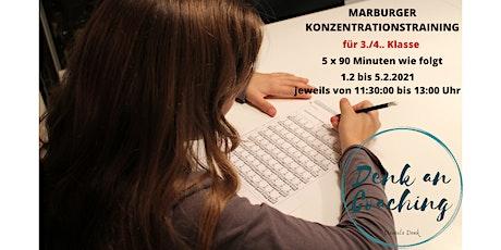 Ferienkurs Marburger Konzentrationstraining für  3./4. Klasse   mit Daniela Tickets