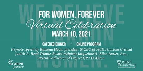 """For Women, Forever"" Virtual Celebration billets"