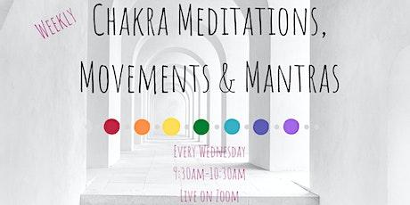 Chakra Healing Meditations, Movement & Mantras Tickets