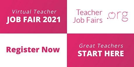 Washington DC Virtual Teacher Job Fair June 16, 2021  Teacher Jobs WA DC tickets