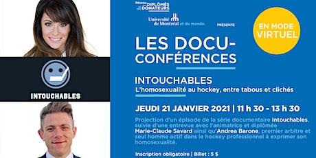 DOCU-CONFÉRENCE | INTOUCHABLES  avec Marie-Claude Savard et Andrea Barone billets